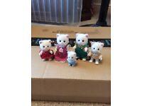 Sylvanian Families Persian Cat Family - 5 Figures