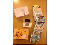 Retro Nintendo ds lite pink for sale with 11 games