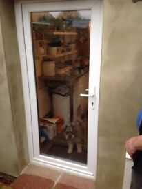 Brand New White UPVC Door & frame ,similar to the one in picture