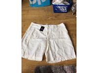 Brand new next women's linen shorts size 14