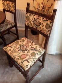 Old Charm dining table and four chairs in show room condition.