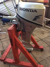 Honda 6hp 4 stroke petrol outboard engine (2004)