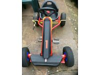 Go Kart in excellent condition red/yellow/black - Freilaufautomatik