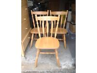 3 John Lewis Beech Dining Chairs
