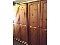 Two double wardrobes, solid pine, Bargain!