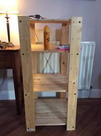 Ikea pine free standing shelving
