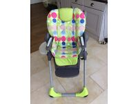Chico High Chair - Lovely design and very practical. Great condition. Can deliver