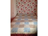 Lovely throw, unused in blue, beige and Browns