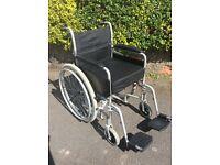 Manual Black Fold Up Wheelchair