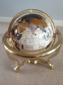 Mother of Pearl Atlas Globe