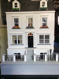 Furnished 8 room Dolls Emporium house and stand