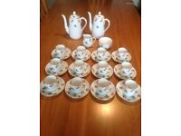 Staffordshire Crown Fine China (12 cup) coffee set