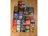 Selection of James Paterson books