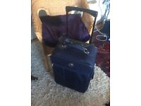 Marco Polo Navy Suitcase on wheels