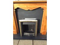 FIREPLACE WITH BACKPLATE ,HEARTH AND INSERT. GOOD CONDITION £100