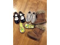 Four pairs of girls shoes size infant 3