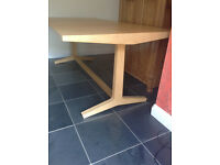 HABITAT - Parker Large Dining Table - Solid Oak - Refectory style ***Can Deliver***