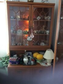 Display unit,2glass doors with light,as new