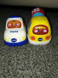 Toot toot police car & cement mixer