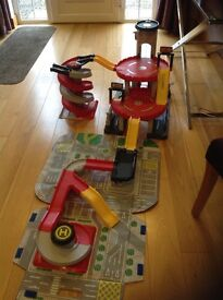 Large children's toy car garage with extension