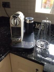 Nespresso Citiz coffee machine with aeroccino frother