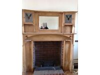 pine fireplace surround approx. 1930