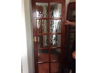 4 used interior glazed doors with door furniture and hinges. Heavy, good quality
