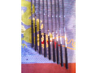 titliest dci golf irons 3 to sand wedge decent condition plus titliest bag