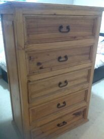 Rustic chest of drawers..