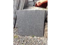 Charcoal / black flamed granite slabs. Sold pending collection.