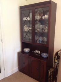 New Bargain Price: Mahogany style and Glass Beautiful Display Cabinet