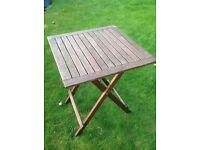 Wooden small garden table