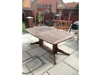 Pagoda wooden table and 8 chairs
