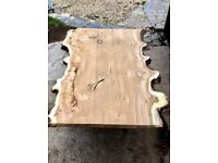 Kiln dried, planed and sanded hardwood timber boards and slabs, perfect for tables and shelves etc.
