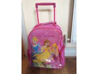 Disney princess pull along suitcase