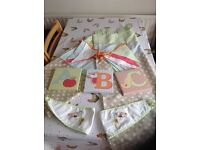 Next nursery curtains, bunting and canvas prints