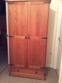 Solid pine wardrobe with drawer ... immaculate