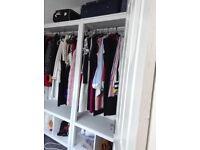 Ikea open double wardrobe