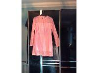 Pink lace dress size 12 brand new,never worn pretty dress