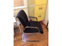 Contemporary black leather chairs - Free delivery