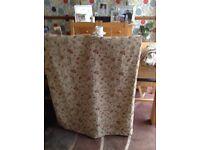 Curtains and cushion