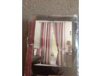 "Dreams 'n' Drapes Whitworth lined eyelet curtains. 90x72"". New."