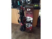 Wilson Deep Red Junior Golf Club set - Age 9-12 years - Right Handed