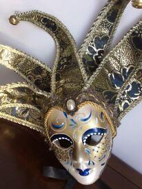 Pair of Venetion Ornamental/Christmas Facemasks