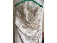 Superb Ivory Satin Wedding Dress for Sale