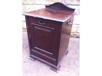 Antique mahogany coal storage scuttle purdonium box chest