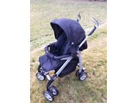 Black Silver Cross buggy with carrycot