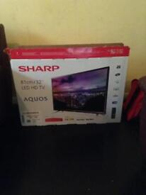 """32"""" Sharp TV Fresh In Box with Built In Freeview"""