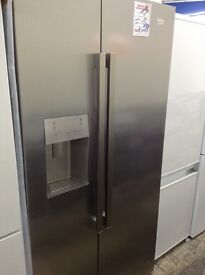 Beko American style fridge freezer with water and ice dispenser