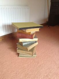 Side/coffee table crafted from genuine antiquarian books